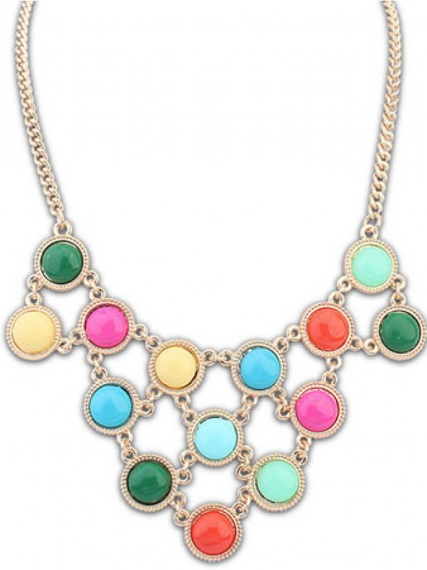 Occident Candy colors Sweet multi-layered Hot Sale Necklace