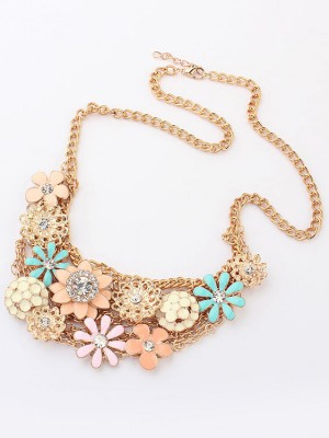Koreaanse versie Sweet Fresh Flowers Metallic Hot Sale-ketting