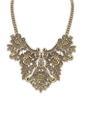 Occident exotische metalen bloemenpatroon Hot Sale ketting